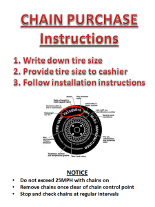 Tire Chain Instructions