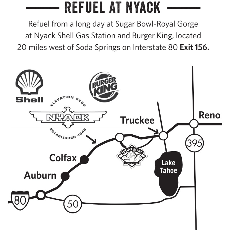 Refuel at Nyack Shell near Sugar Bowl Resort
