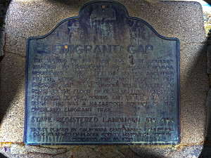 Emigrant Gap Historical Marker